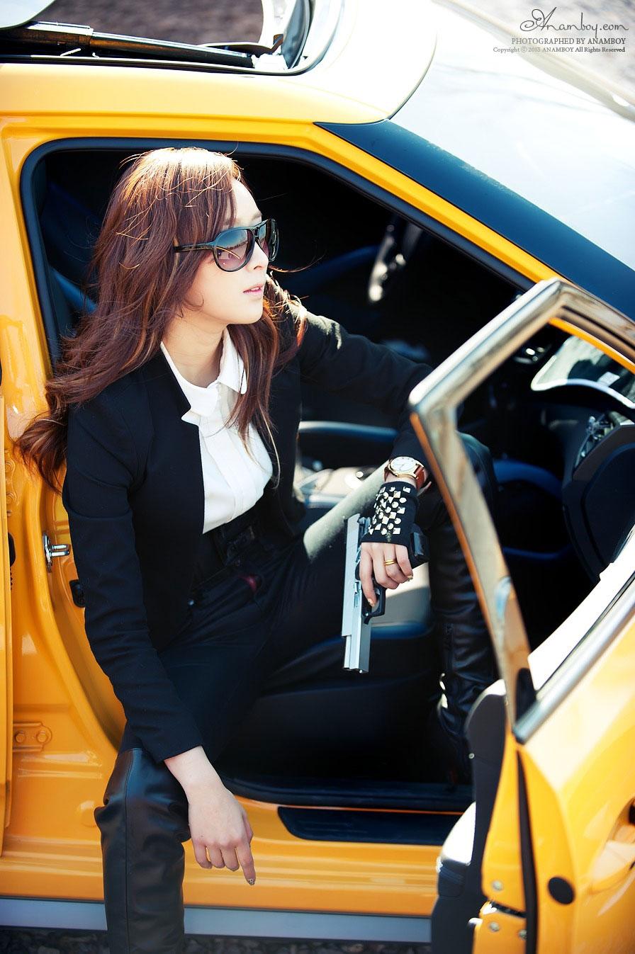 Korean model Minah stylish photoshoot