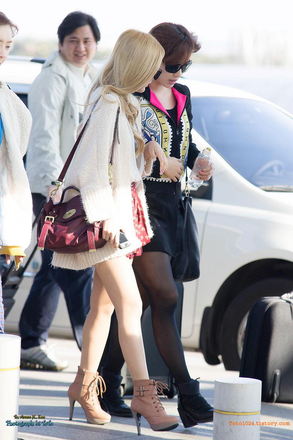 T-ara Jiyeon Incheon Airport fashion