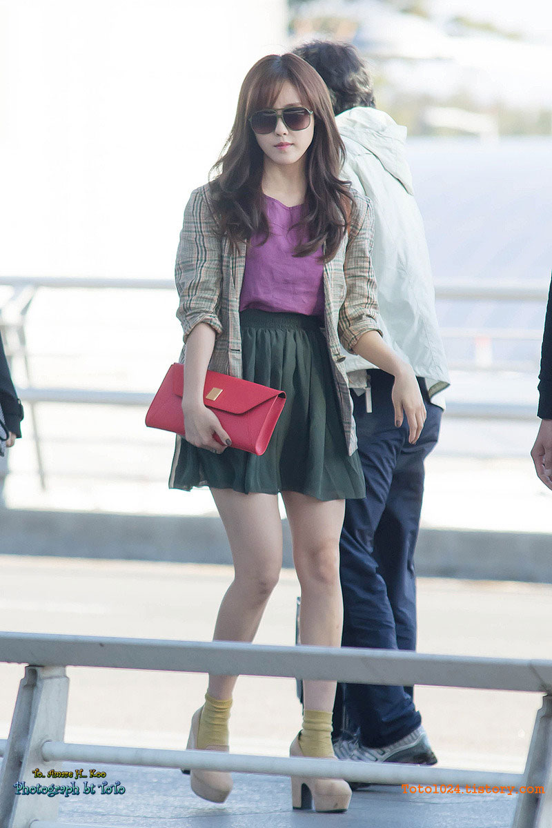 T-ara Hyomin Incheon Airport fashion