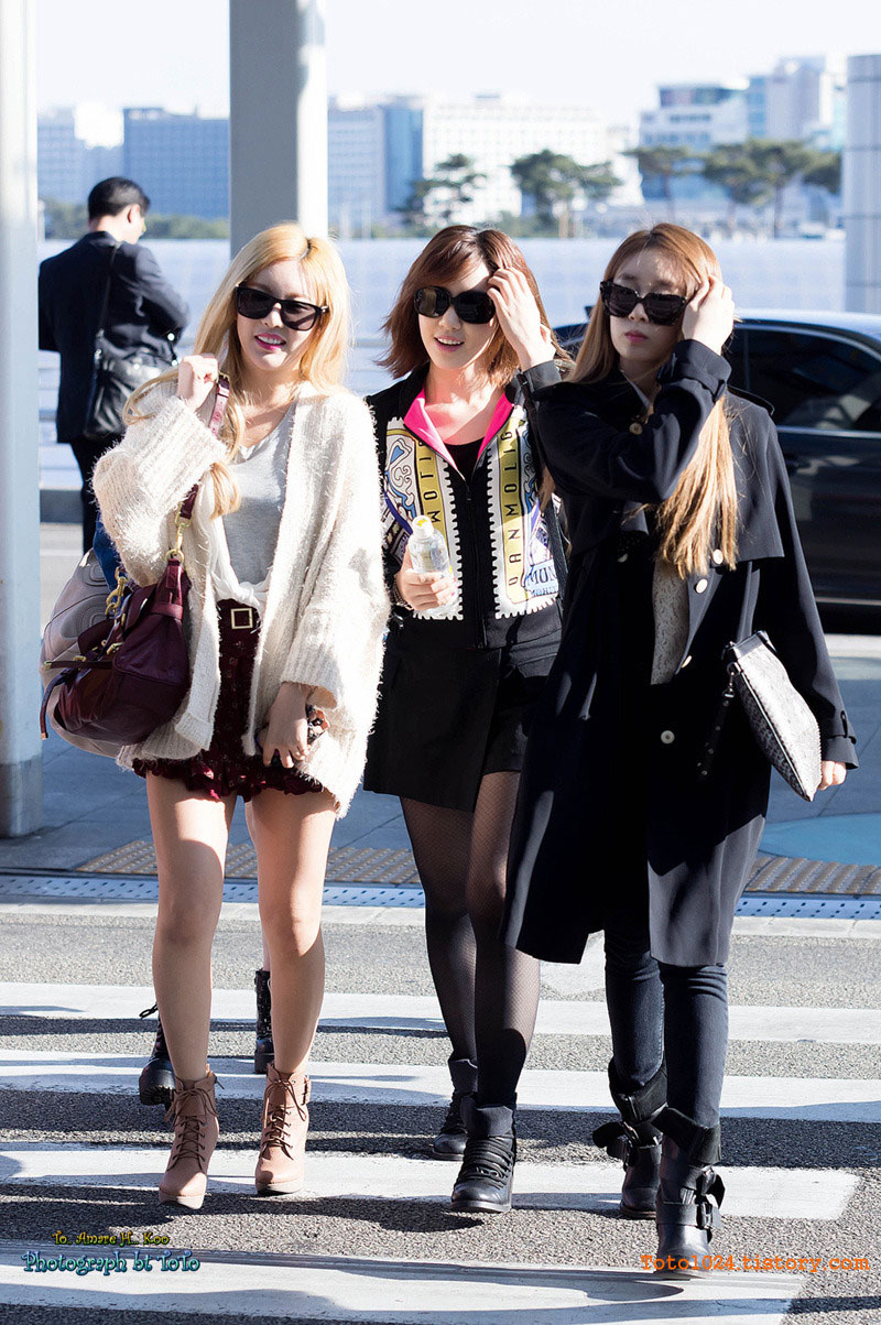 T-ara Korean Incheon Airport fashion
