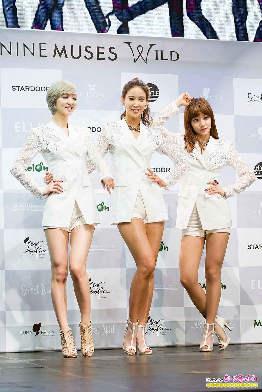 Korean girl group Nine Muses Wild