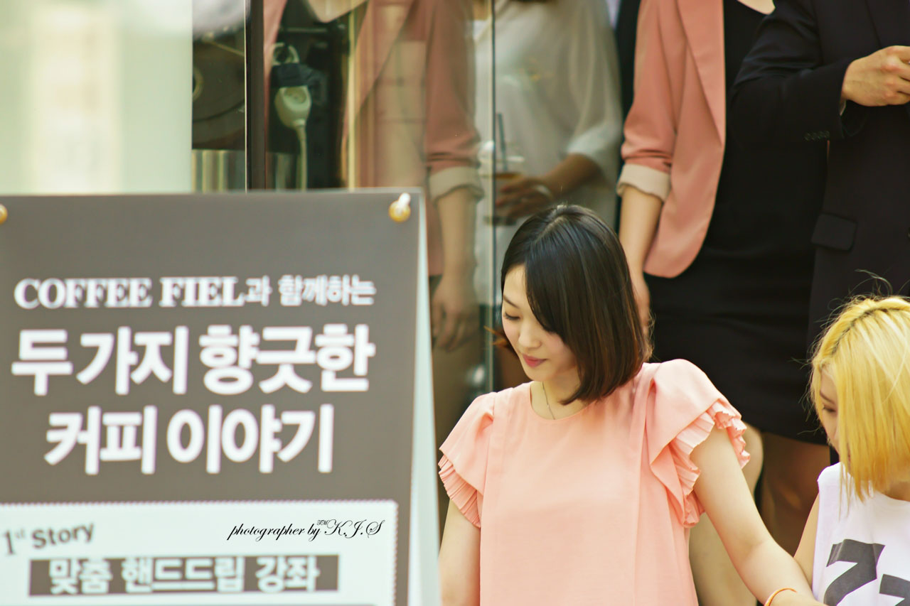 fx Sulli Jardin Coffee fan signing