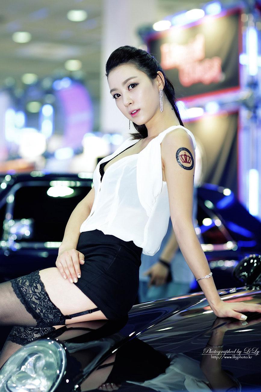 Ju Da Ha at Seoul Auto Salon (SAAS) 2013 for Crown Auto