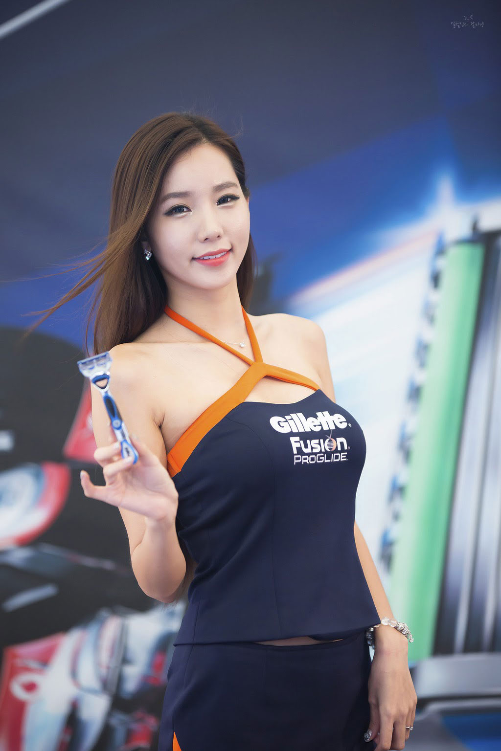 Korean Gillette model Lee Ji Min