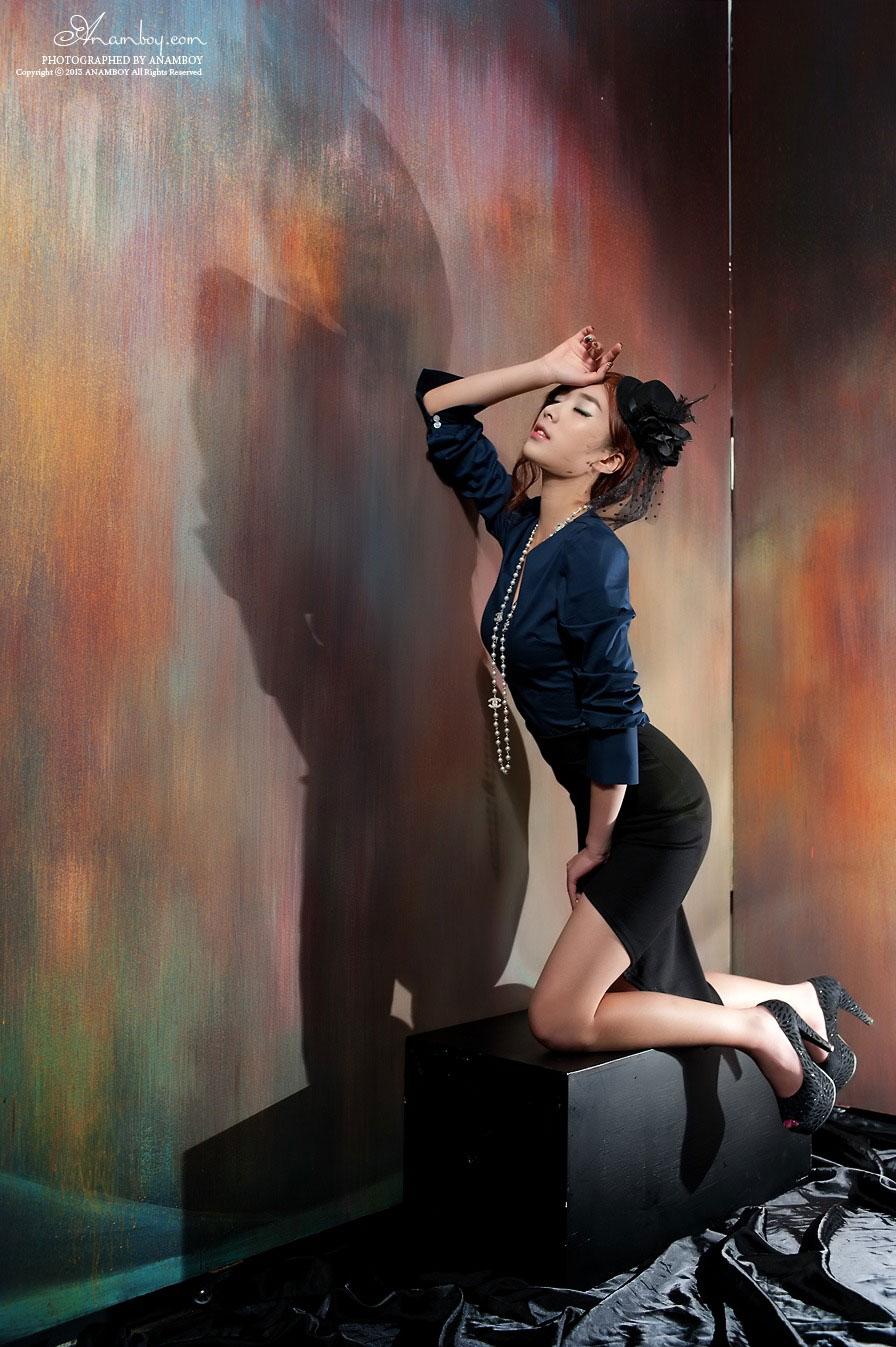 Korean model Minah studio photography