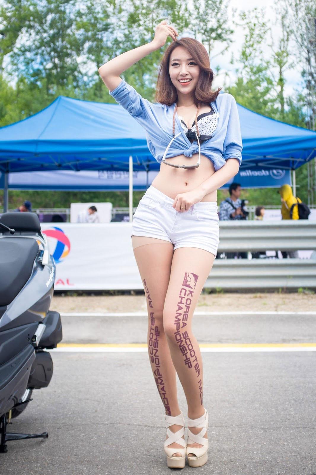 Shin HaeRi Korea Scooter Race 2013