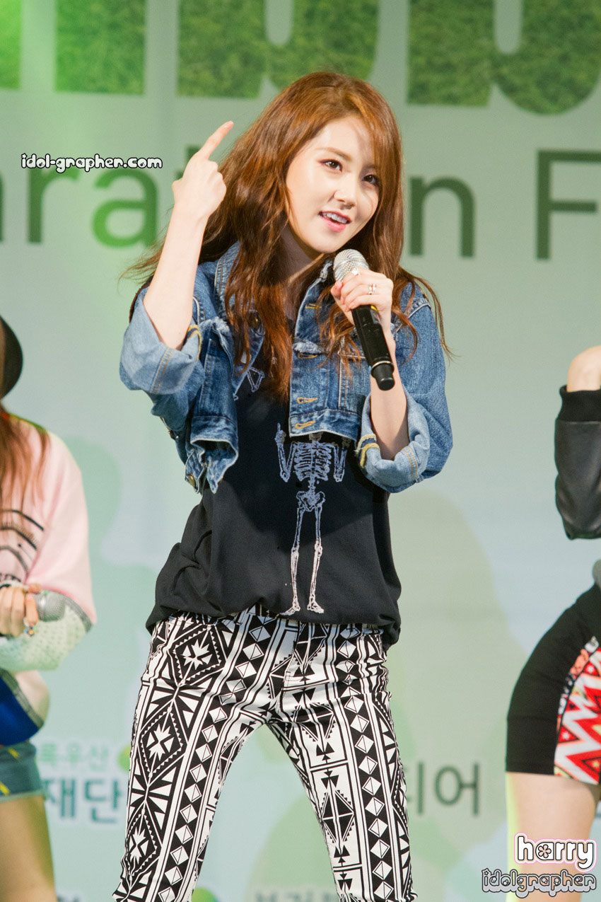 4Minute Hyuna Green Ribbon Marathon