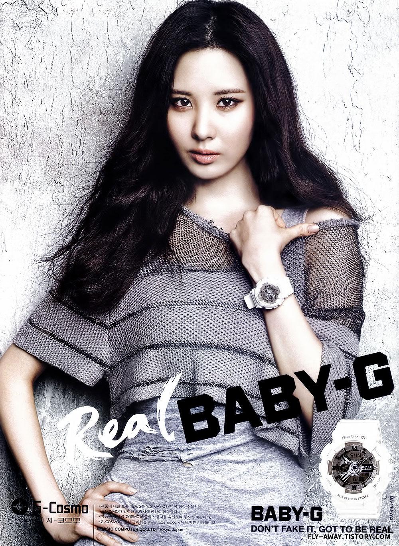 Girls Generation Seohyun Baby-G watches