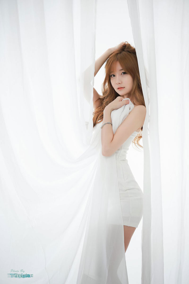 Choi Seul Ki Korean white mini dress