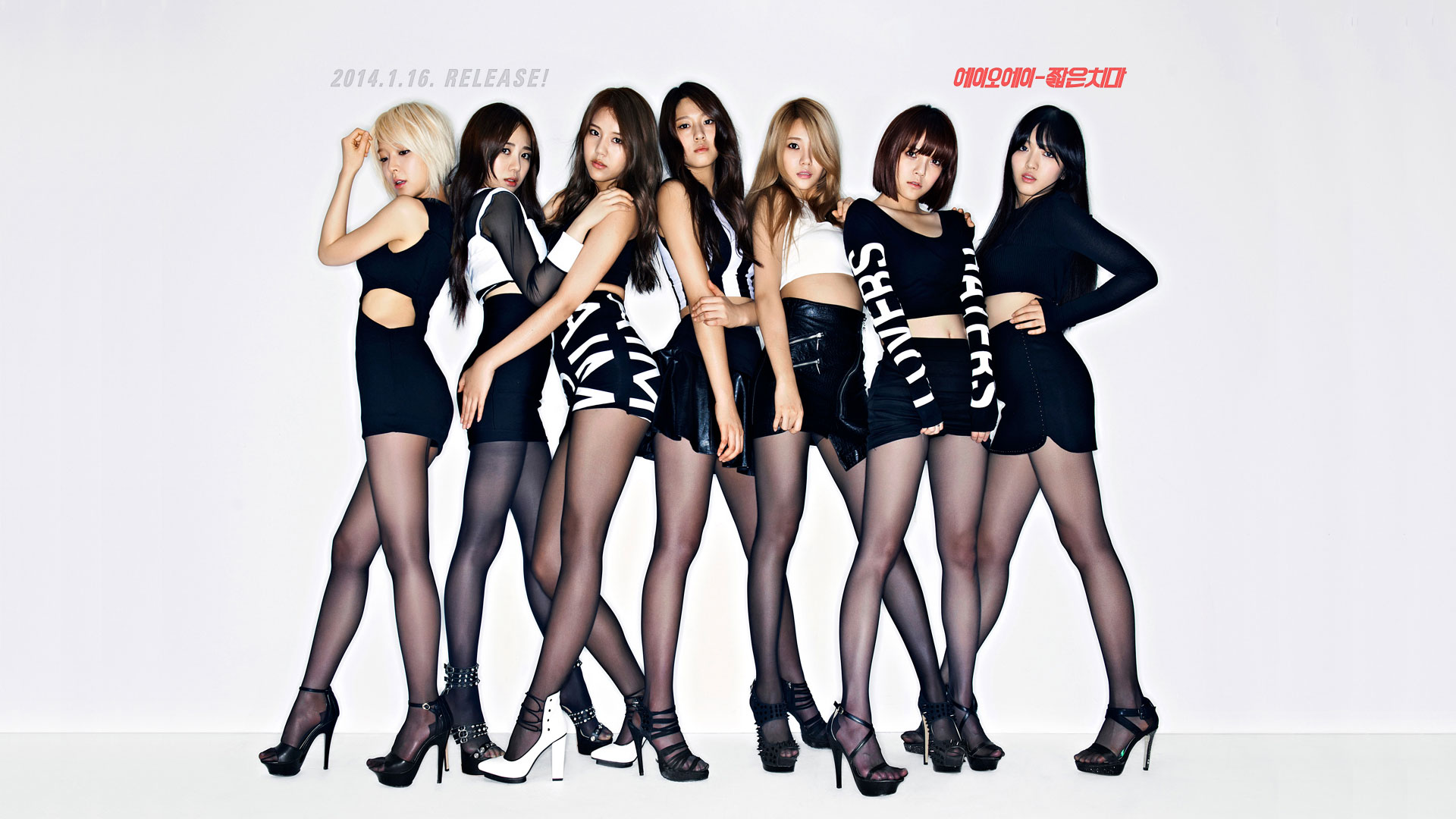 Korean girl group AOA Miniskirt wallpaper
