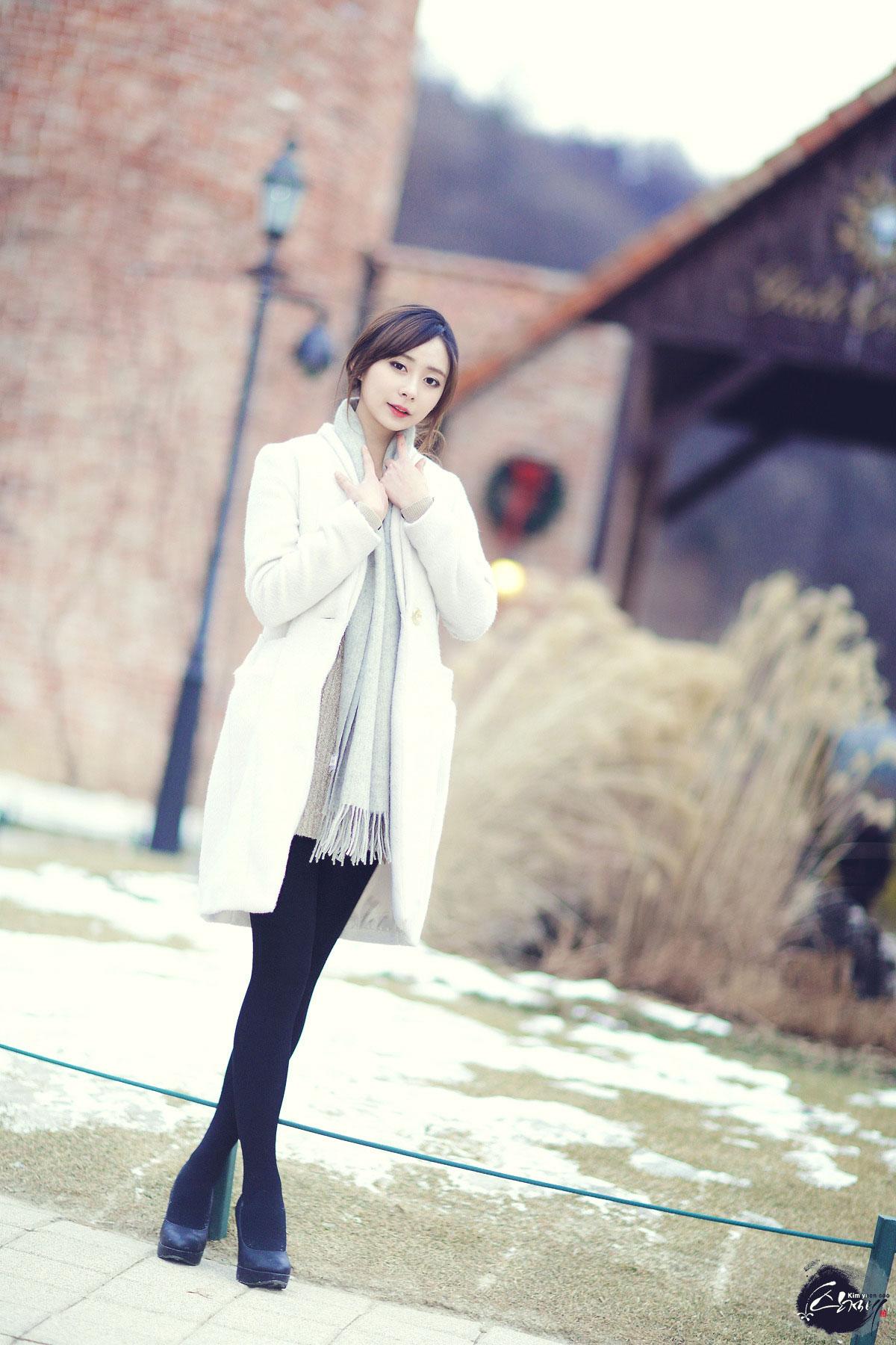 Korean model Seo Han Bit spring photoshoot