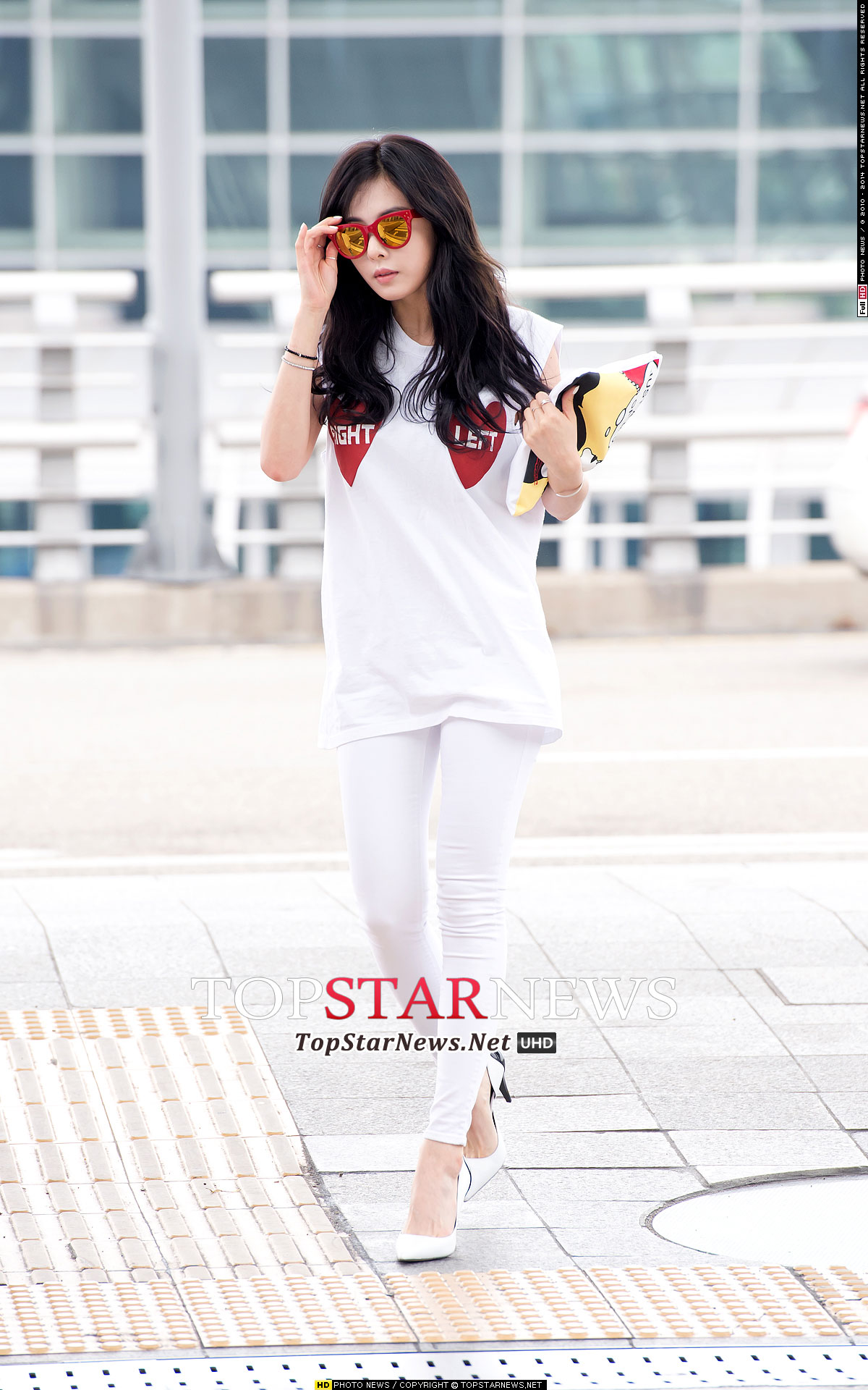 4Minute Hyuna Korean airport fashion