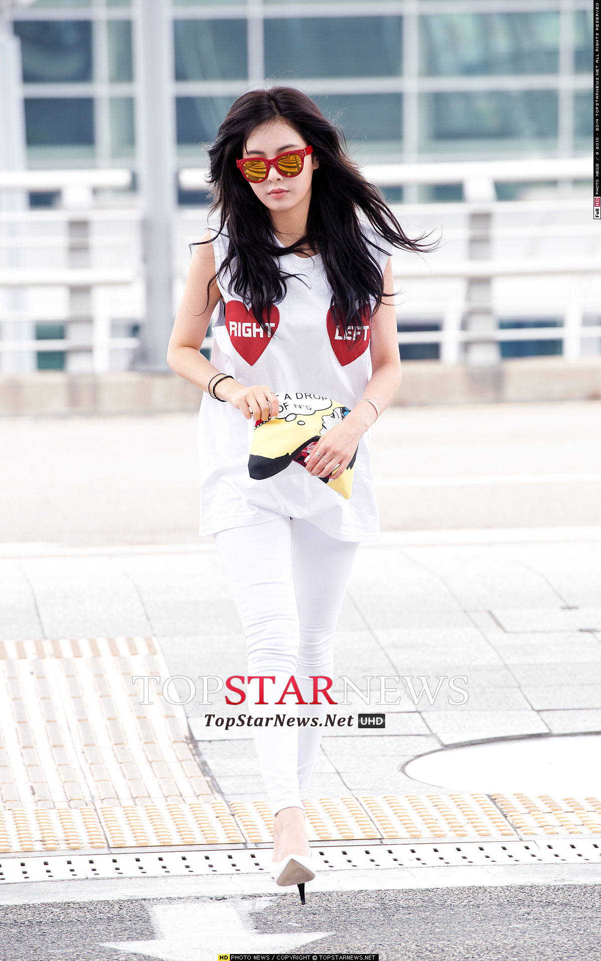 4Minute Hyuna Korean airport fashion