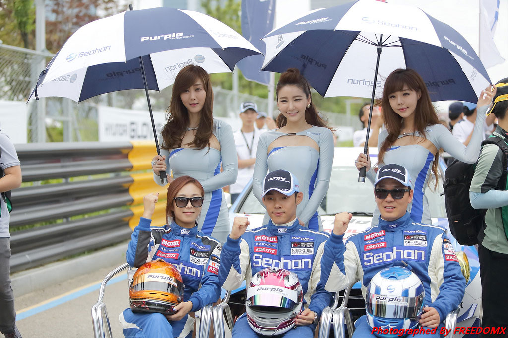 Korea Speed Festival 2014 Purple Motorsport race queens