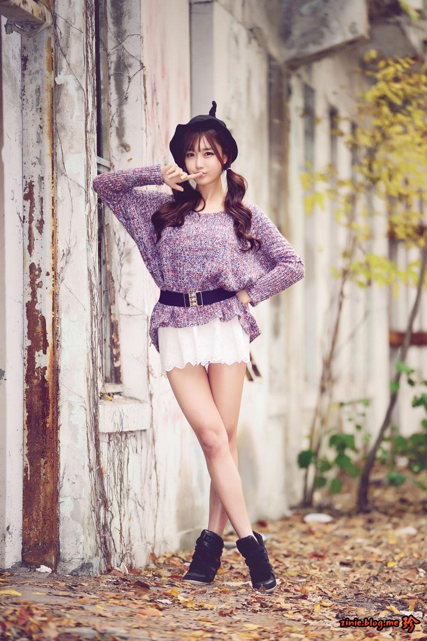 Choi Seul Gi Korean autumn photoshoot