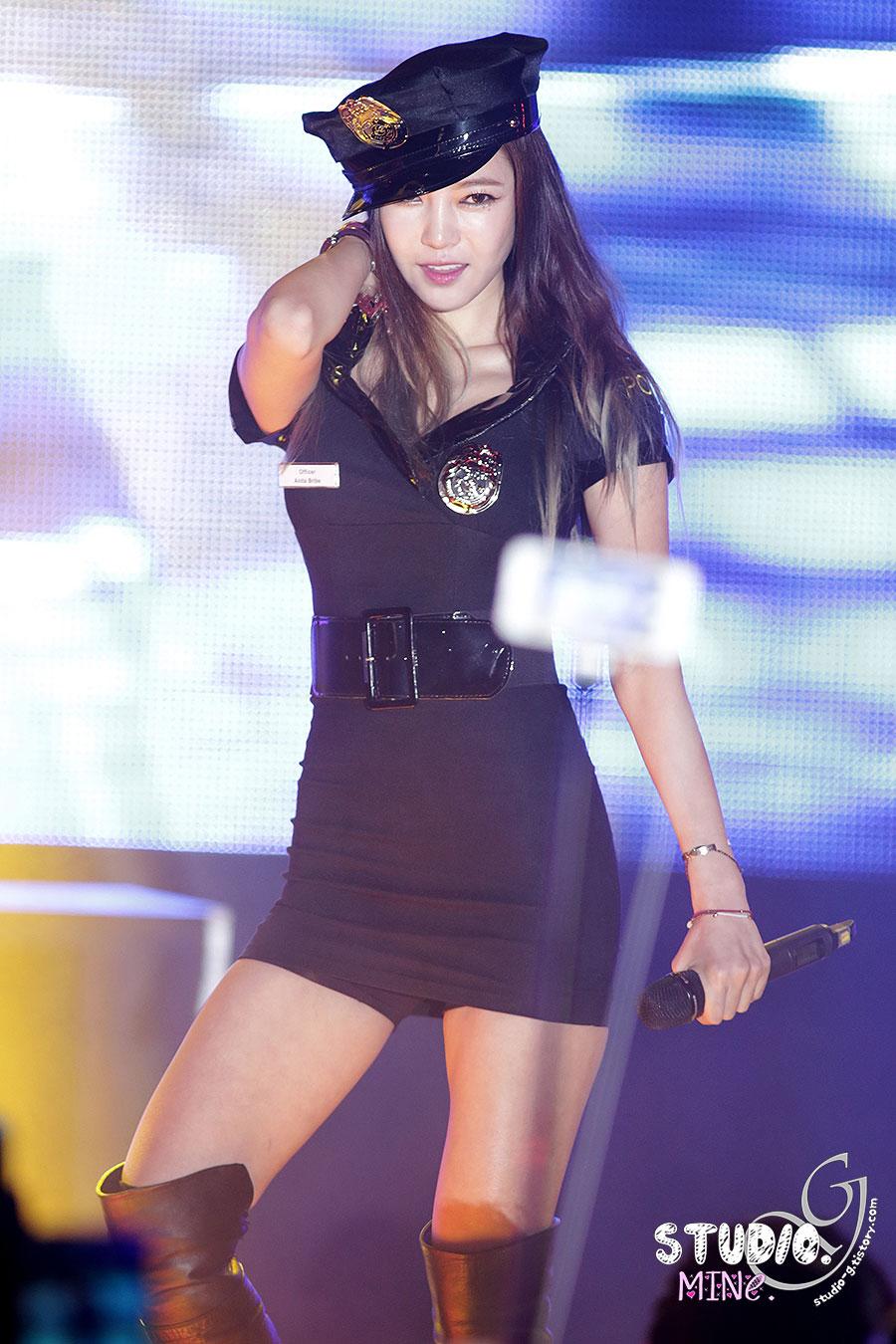 NS Yoon G Korean Halloween police cosplay