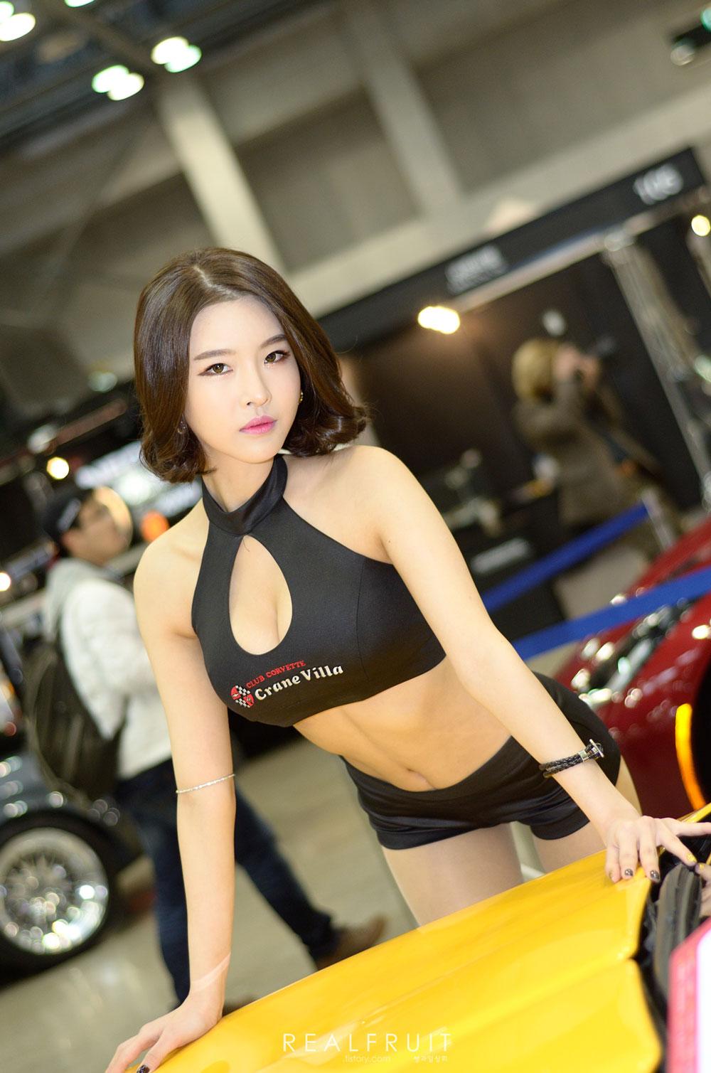 Korean Car Show Models Ko Jin Young Tuning Car Contest 2014 Korean Race Girls Hwang Mi Hee