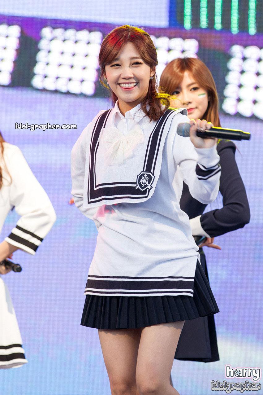 A Pink Eunji Korean sailor uniform style
