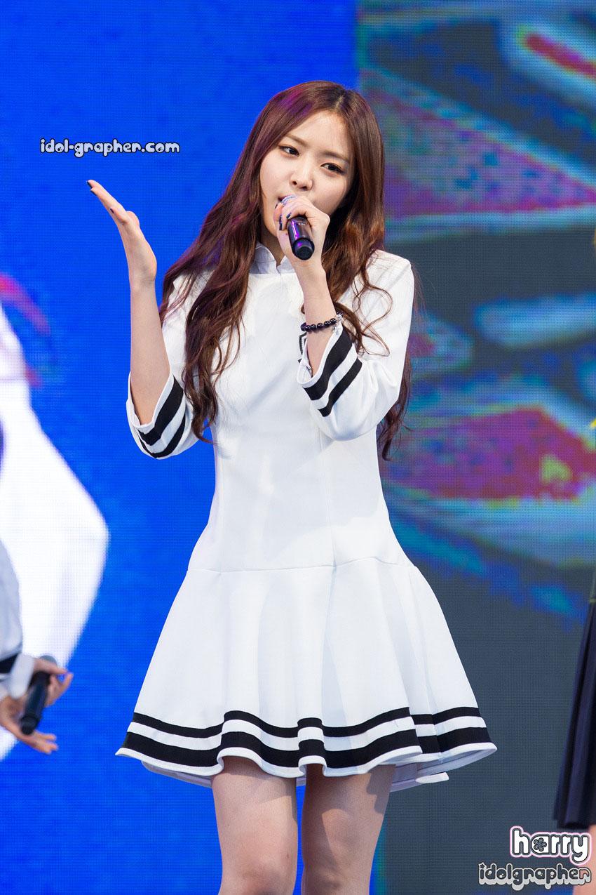 A Pink Naeun Korean sailor uniform style