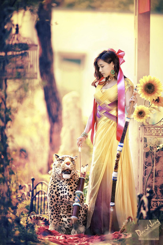 Kim Ha Yul mystical portrait photoshoot