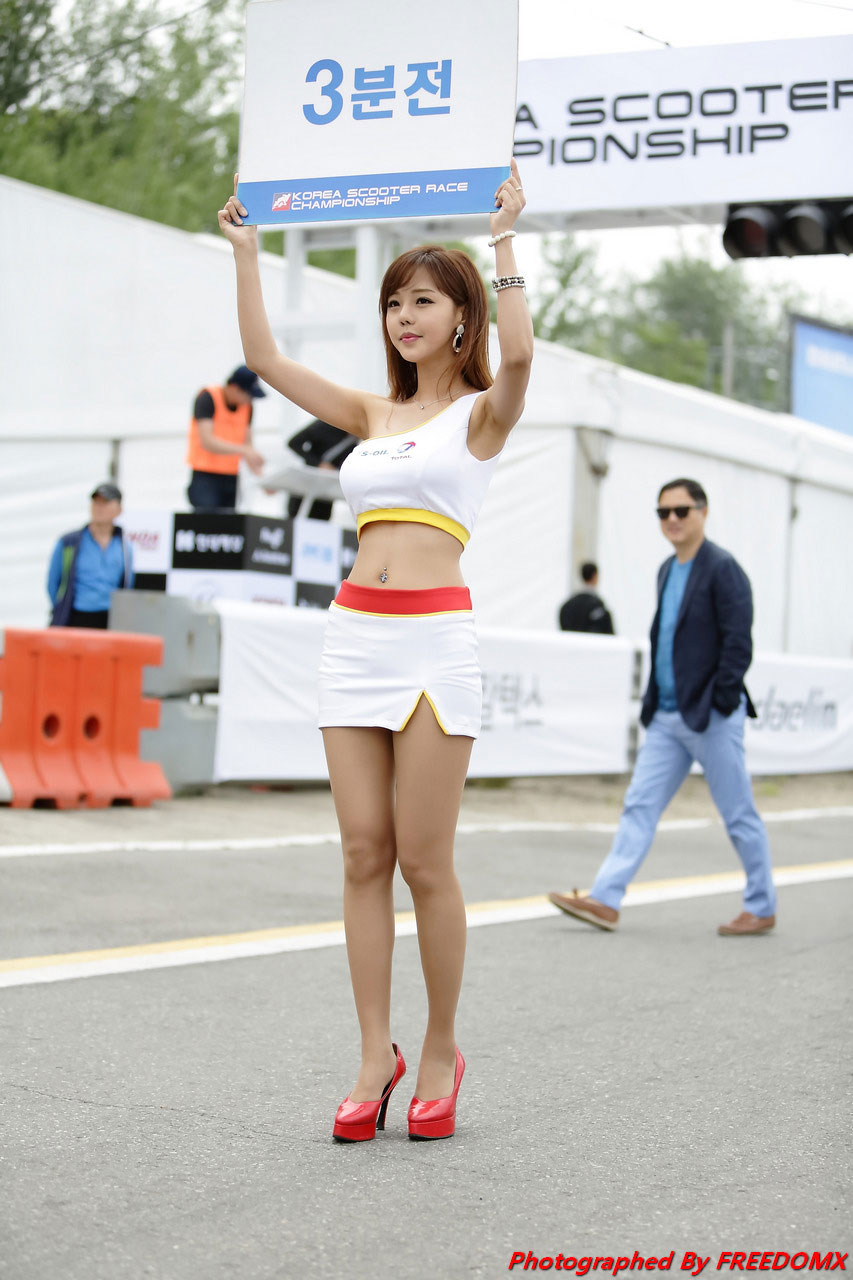 Seo Jin Ah Korea Scooter Race 2014 S-Oil Total