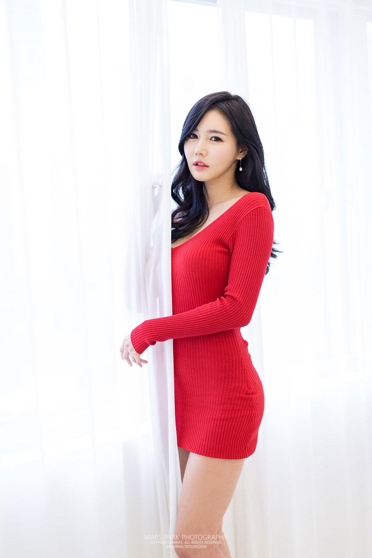 Korean model Han Ga Eun studio photoshoot