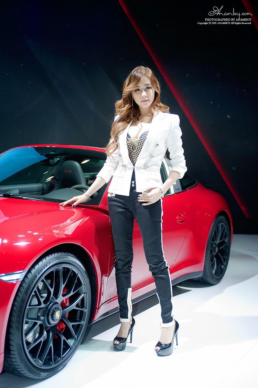 Kim Ha Yul Seoul Motor Show 2015 Porsche