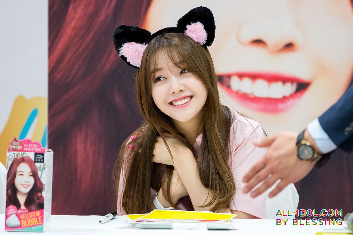 Girls Day Minah Hello Bubble fan signing