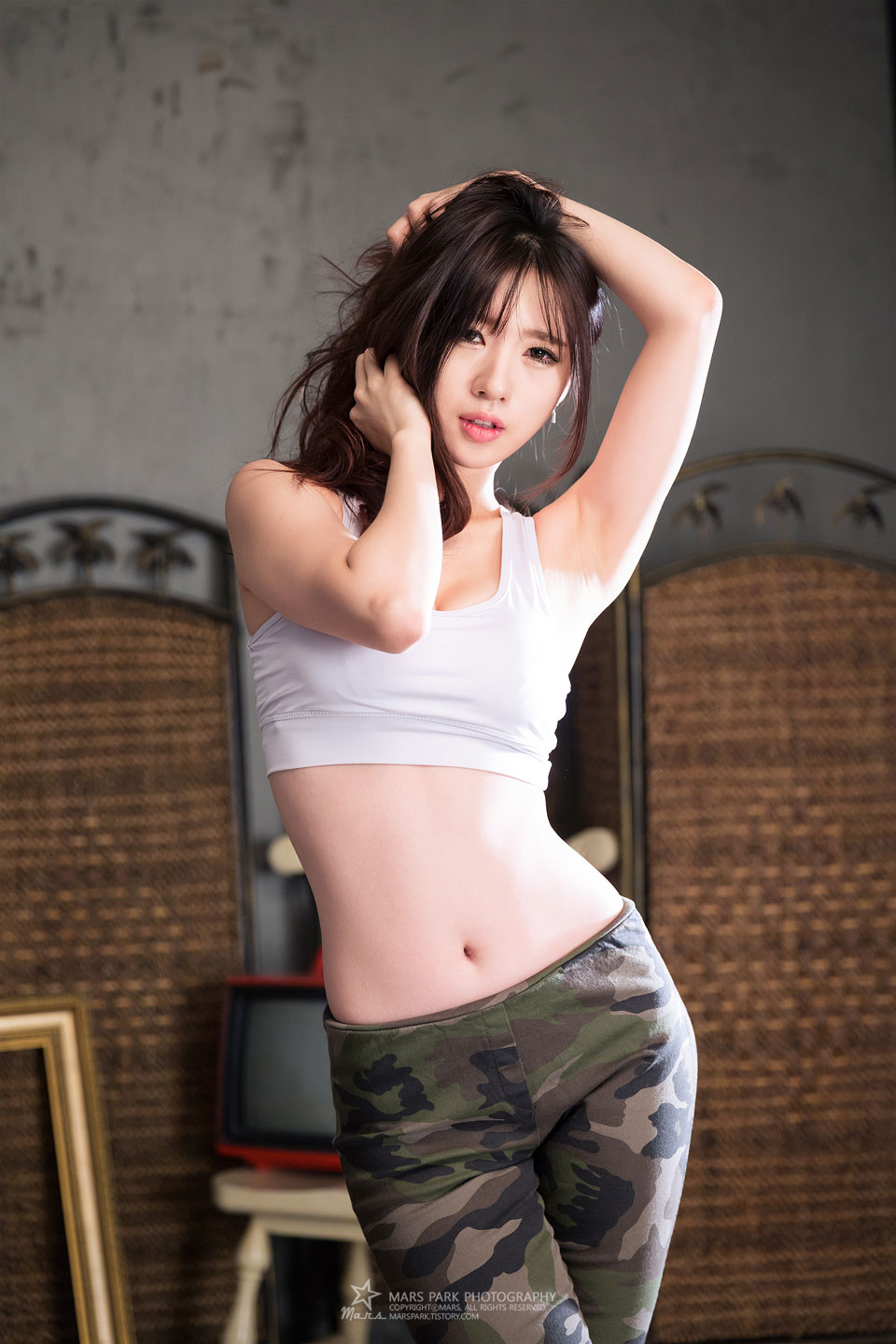 Korean model Song Ju Ah studio photoshoot