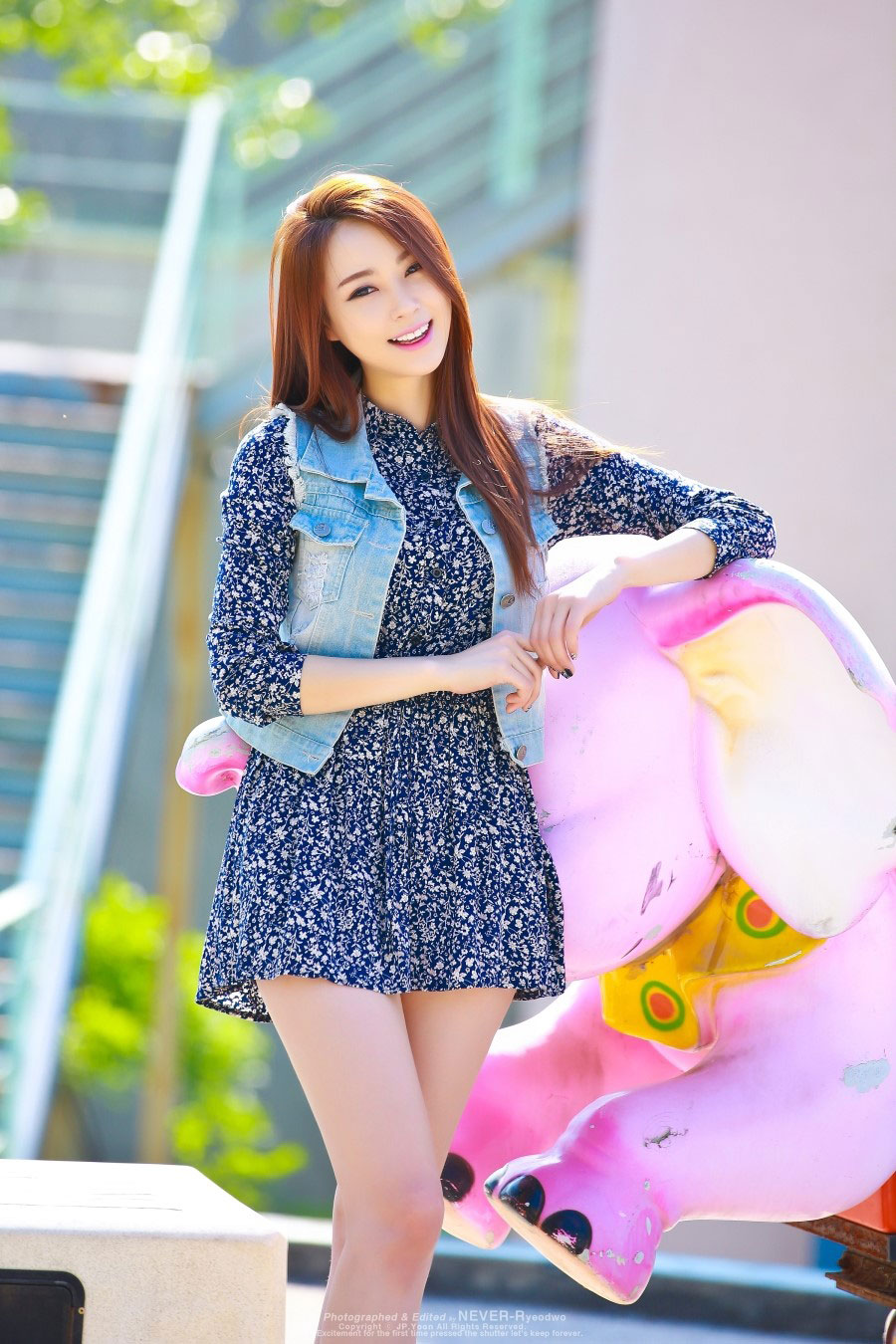 Model Ju Da Ha outdoor photoshoot