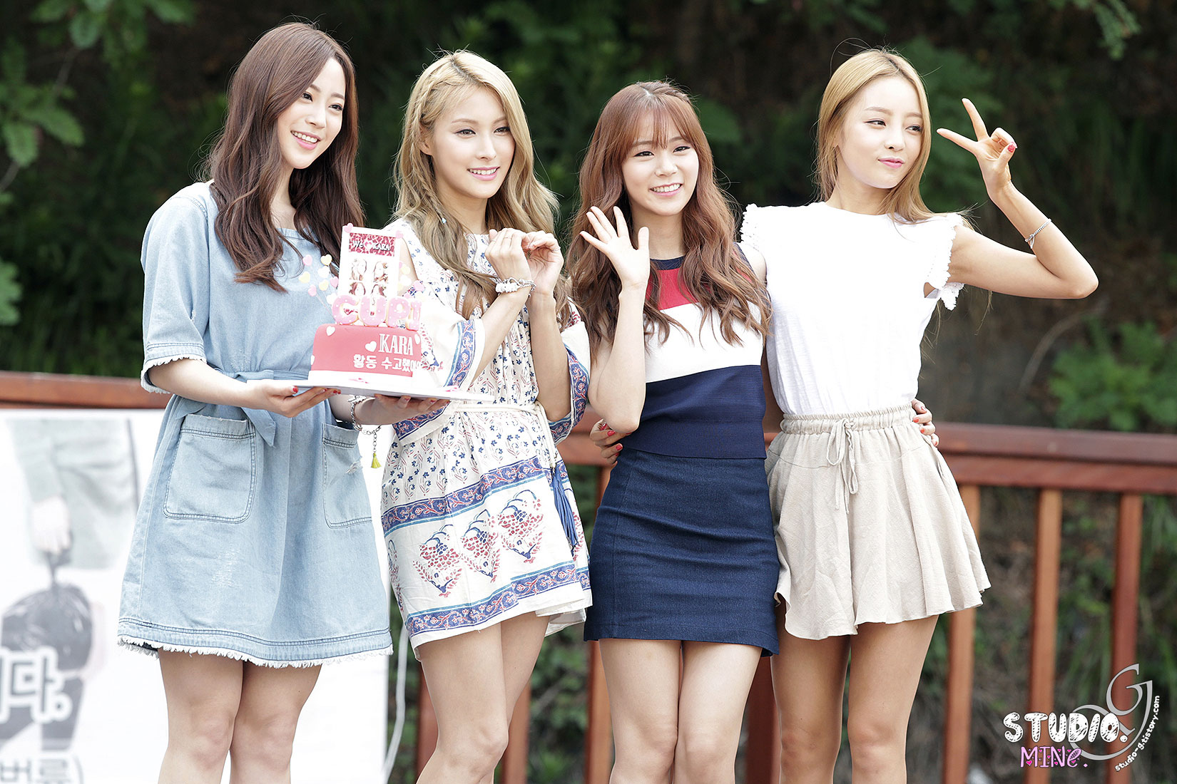 KARA Cupid Korean mini fan meeting event