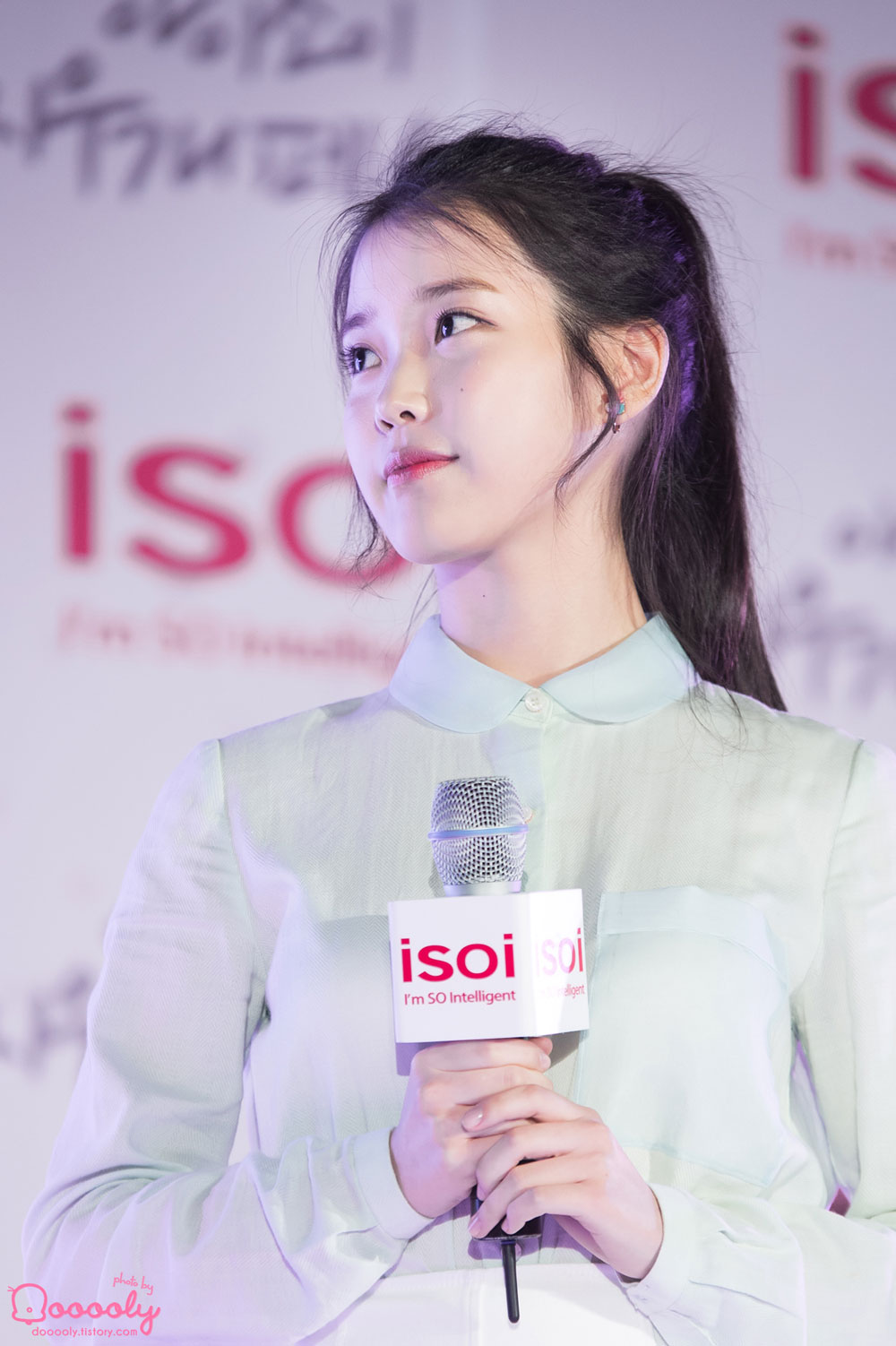 IU ISOI cosmetics fan meeting event