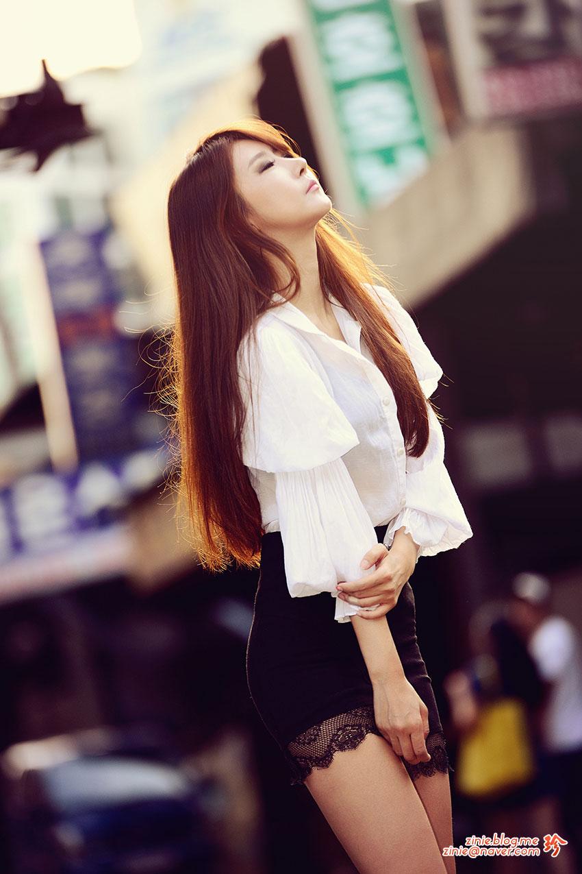 Korean model Park Hyun Sun outdoor photoshoot