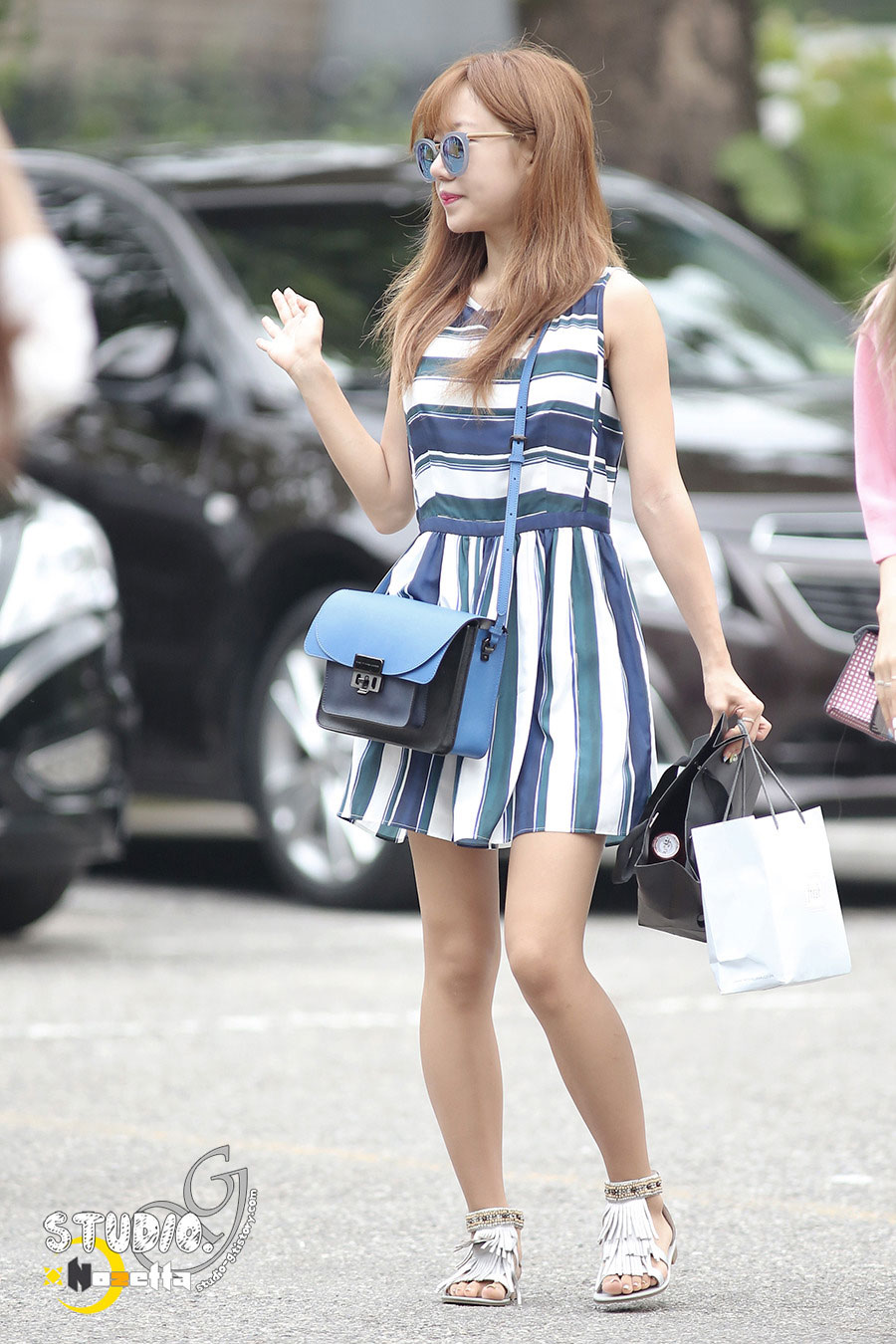 Apink Namjoo KBS Music Bank commute