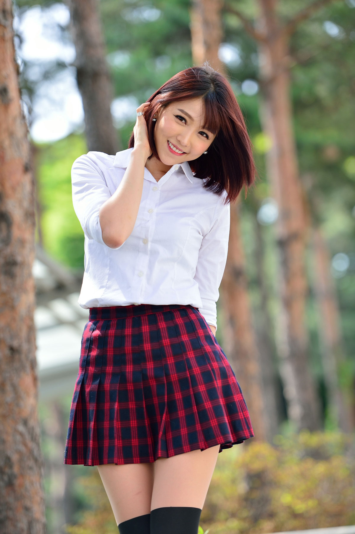 Korean model Lee Eun Hye school fashion