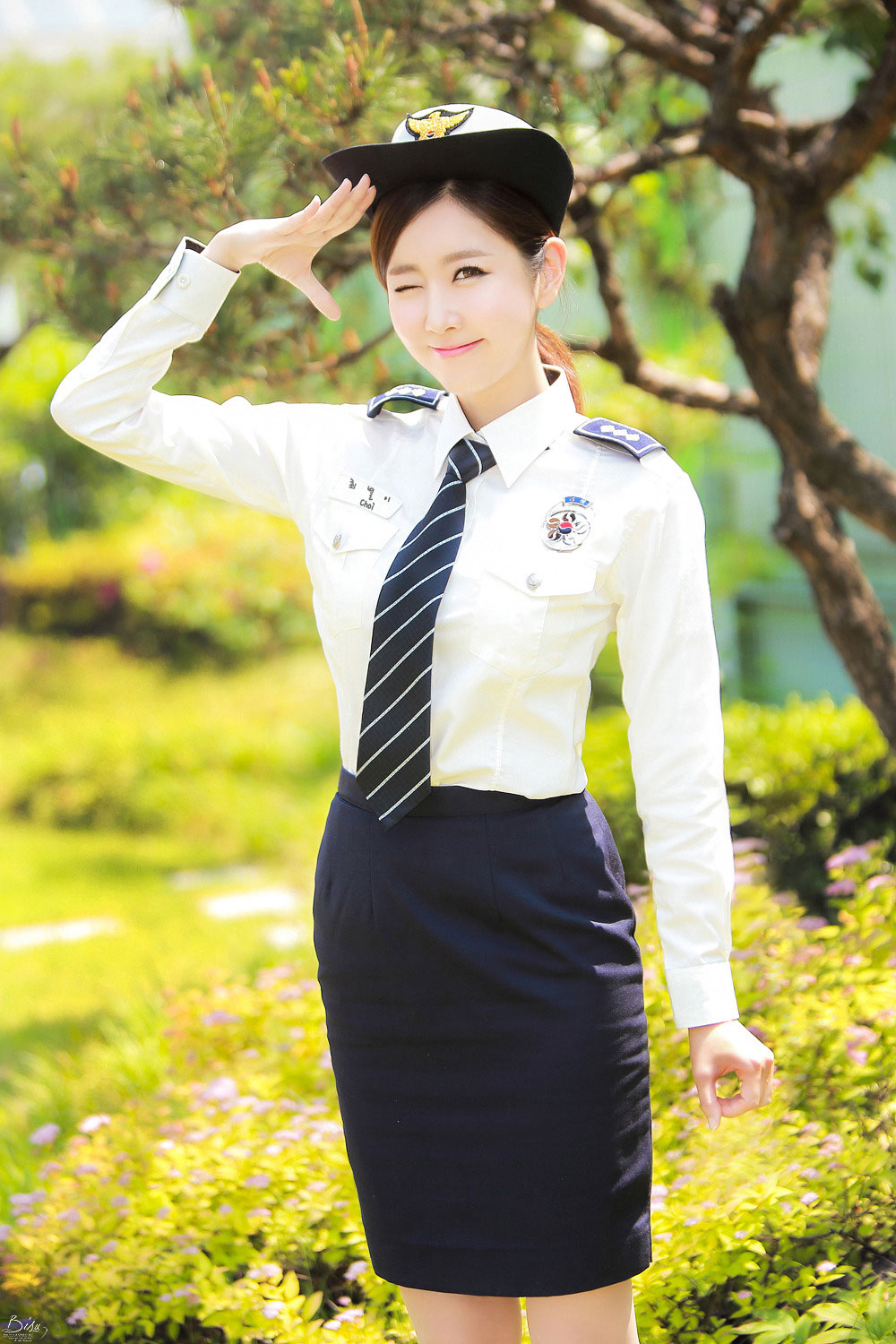 Choi Byul I Korean police uniform