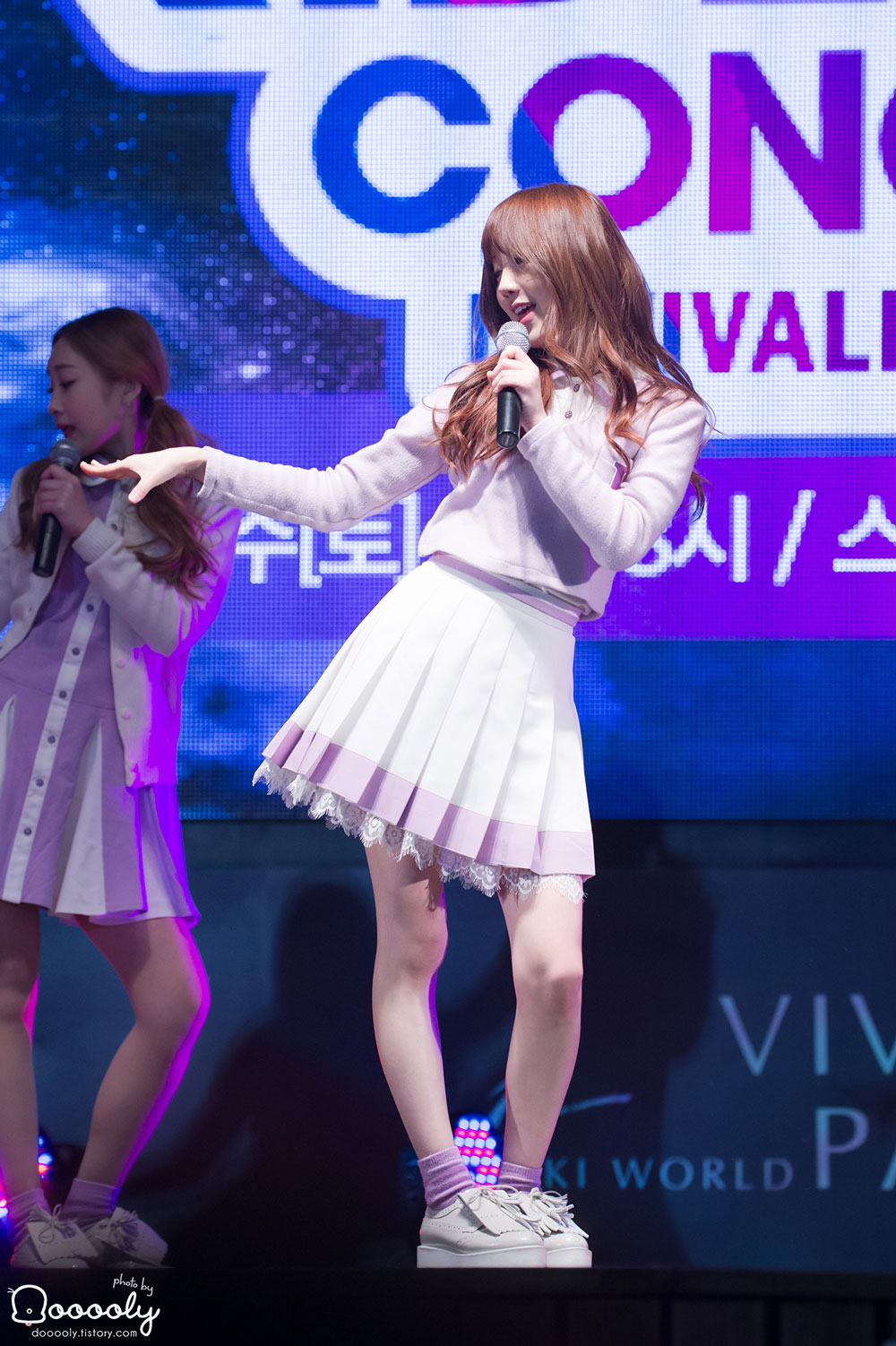 Girl group Lovelyz Vivaldi Park Riding Concert