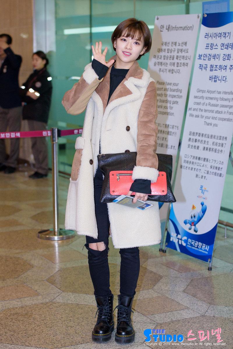Twice Jeongyeon Gimpo airport fashion