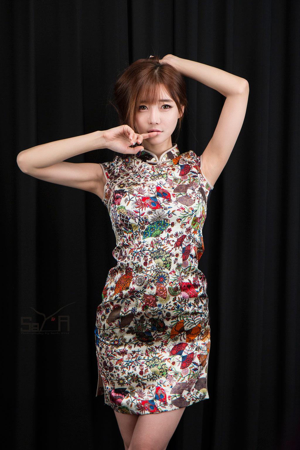 Model Choi Seul Ki Chinese cheongsam