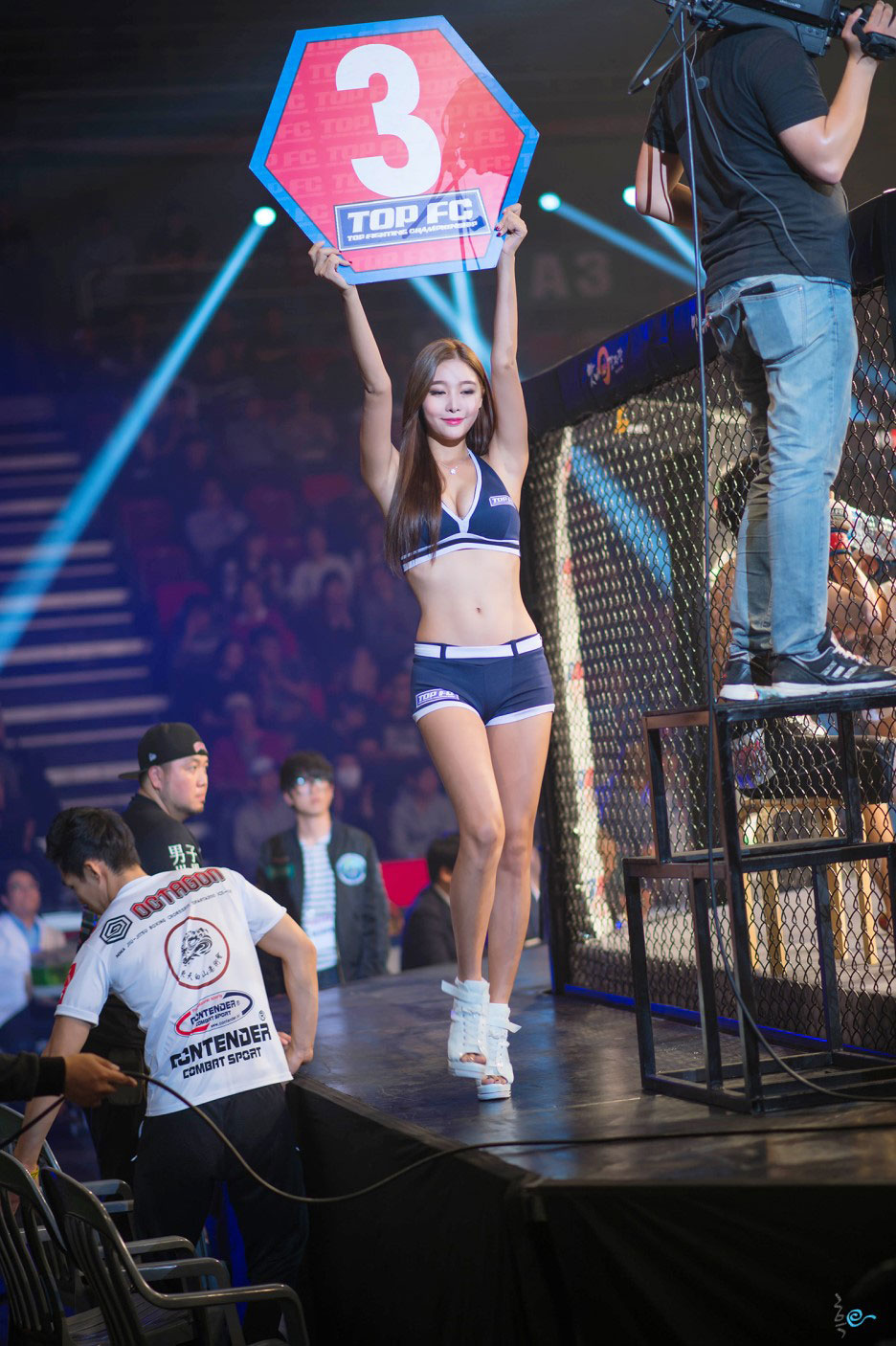 Min Je I Korean Road FC ring girl